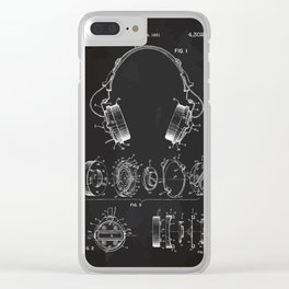Headphone patent Clear iPhone Case