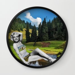 Marilyn in Transylvania Wall Clock