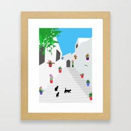 Andalusian street Framed Art Print