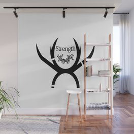 T-Shirt Fun Comic Strength Wall Mural