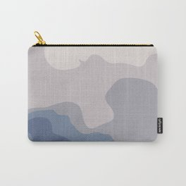 Abstract dark and light blue pattern Carry-All Pouch