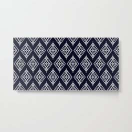 Ikat patterns fabric boho motif aztec textile fabric carpet geometric mandalas native ethnic African American Metal Print