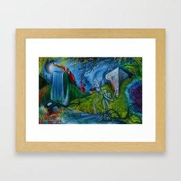 """""""Thoughts of Revolution"""" New Landscape Surrealism by Landon Huber Framed Art Print"""