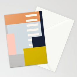 Carson Abstract Geometric Print in Multi Stationery Cards
