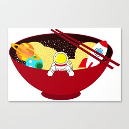 Space Odyssey Ramen | Astronaut Ramen | Bowl of Space Ramen | Galaxy in a Bowl | pulps of wood Canvas Print