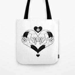 messy hearts Tote Bag