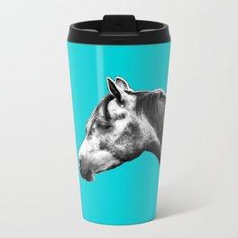 Arabian Horse blue print Metal Travel Mug
