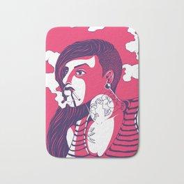 Bad Striped Girl 01 Bath Mat