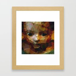 Geometric Doll Framed Art Print