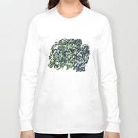 faces Long Sleeve T-shirts featuring Faces by Pat Pot Designs
