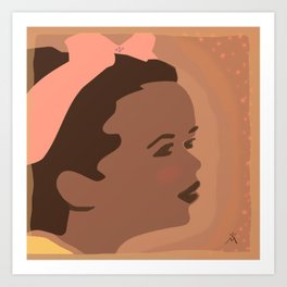 The Candor of a Dreaming Girl Art Print