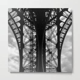 Eiffel in Symmetry Metal Print