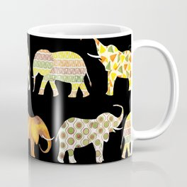 Happy elephants black version Coffee Mug