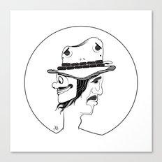 2 Hat Face Canvas Print