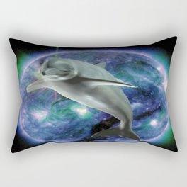 Space dolphin Rectangular Pillow