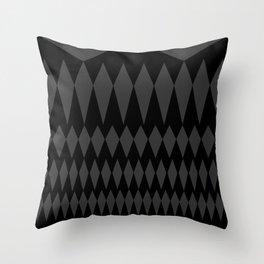 Gray Diamonds Throw Pillow