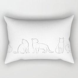 cat contours Rectangular Pillow