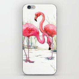 Pink Flamingos iPhone Skin