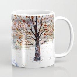 Snow Grey Skies over Moon Lake in Dewdrop Holler Coffee Mug