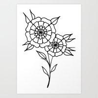 Mandala Flowers Art Print