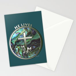 He Lives - Cross Stationery Cards