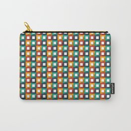 Flat design modern vector illustration background pattern with long shadow effect Carry-All Pouch