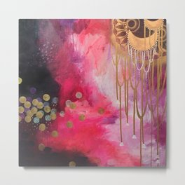 Love Bomb Original Painting by Rachael Rice Metal Print