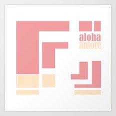 Aloha amore! Art Print