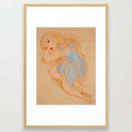 Matisse in Blue Framed Art Print