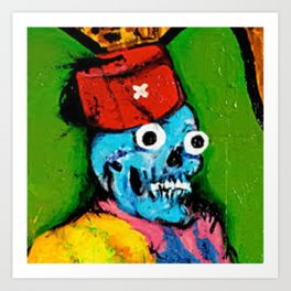 Fix Your Face Bozo Art Print