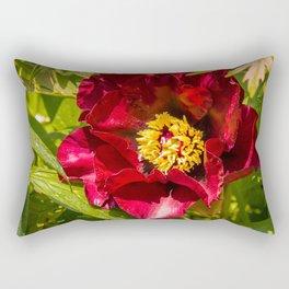 Peony (Paeonia) Rectangular Pillow