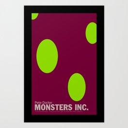 Monsters Inc. | Minimal Movie Poster Art Print
