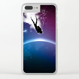 Space Dive Clear iPhone Case
