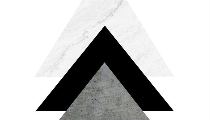 Arrows Monochrome Collage Pillow Sham