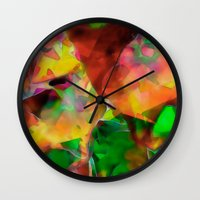chaos Wall Clocks featuring Chaos by Ray Cowie