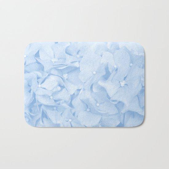 Pastel Blue Flowers Bath Mat