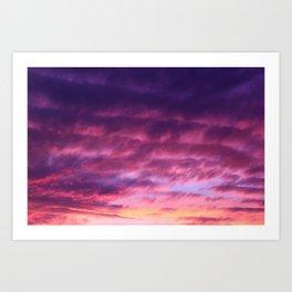 Pink Purple Sunset Art Print