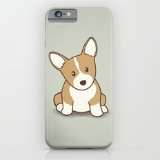 Welsh Corgi Puppy Illustration Slim Case iPhone 6