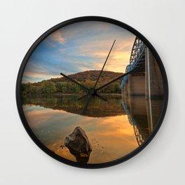 Point of Rocks Sunset Wall Clock