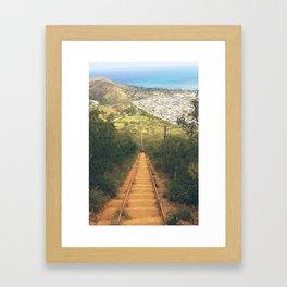 Koko Head Trail And Landscape View Framed Art Print