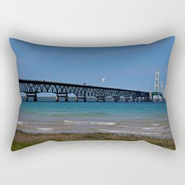 The Mackinac Bridge Rectangular Pillow