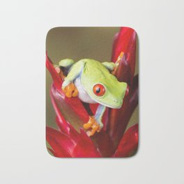 Red Eyed Tree Frog On Bromeliad Bath Mat