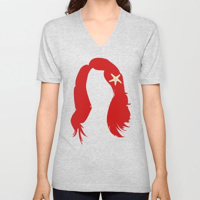 Ariel's Hair Unisex V-Neck