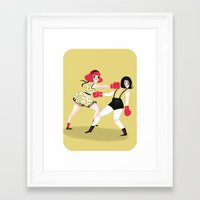 girls Framed Art Prints featuring GIRLS! by giovanamedeiros