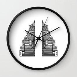 Bali Gate to Paradise Wall Clock