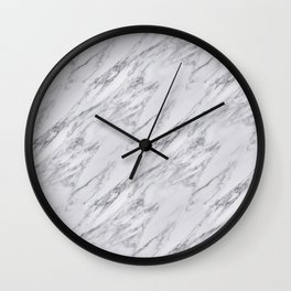 Black White Actual Real Classic Marble Stone Wall Clock