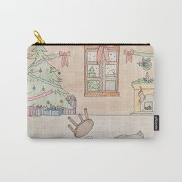 Mischievous Christmas cat Carry-All Pouch