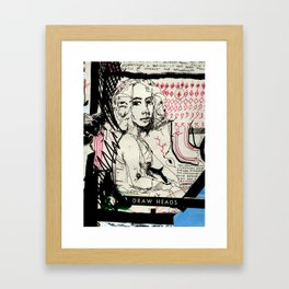 Drawn Attention Framed Art Print