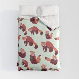 Red Panda Pattern Comforters