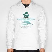 manatee Hoodies featuring Manatee Island by Lidra